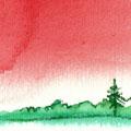 楽しい夏休み〜すいか色の思い出〜(月光荘ムーンライト展2008 入選)